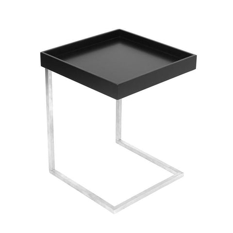 LumiSource TB-ZENNKD+TR BK Zenn Tray End Table + Tray Black - BarstoolDirect.com