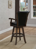 American Heritage Billiard 100614PW Napoli Bar Height Stool in Pewter - BarstoolDirect.com - 2
