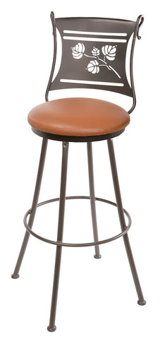 "Stone County Ironworks 902-749-LPC Aspen Barstool 25"" (with swivel) - BarstoolDirect.com"