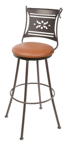 "Stone County Ironworks 902-751-LTN Bistro Barstool 25"" (with swivel) - BarstoolDirect.com"