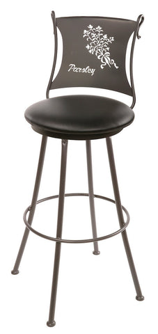 "Stone County Ironworks 902-761-LBK Parsley Barstool 25"" (with swivel) - BarstoolDirect.com"