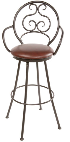 "Stone County Ironworks 902-767-LPC Ranfurlie Barstool 25"" (with swivel) - BarstoolDirect.com"