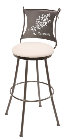 "Stone County Ironworks 902-771-CTH Rosemary Barstool 25"" (with swivel) - BarstoolDirect.com"