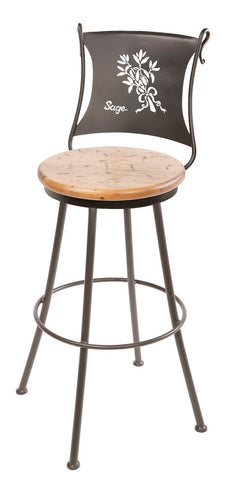 "Stone County Ironworks 902-773-DPN Sage Barstool 25"" (with swivel) - BarstoolDirect.com"