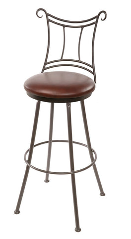 "Stone County Ironworks 902-784-LPC Waterbury Barstool 30"" (with swivel) - BarstoolDirect.com"