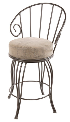 "Stone County Ironworks 902-861-FDB Bella Barstool 30"" (with swivel) - BarstoolDirect.com"