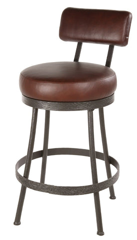 "Stone County Ironworks 904-459-LPC Cedarvale Barstool (No Arm) 25"" (with swivel) - BarstoolDirect.com"