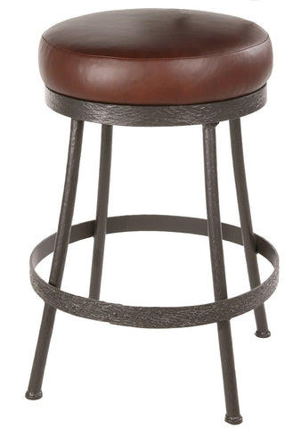 "Stone County Ironworks 904-462-LPC Cedarvale Barstool (No Back) 30"" (with swivel) - BarstoolDirect.com"