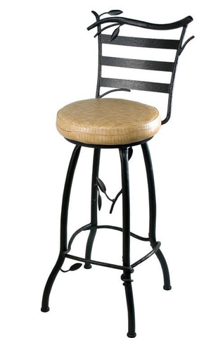 "Stone County Ironworks 910-239-ESA Green Forest Barstool 30"" height w/ swivel - BarstoolDirect.com"