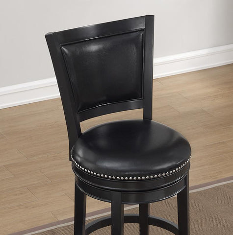 American Heritage Billiard 130164 Shae Bar Height Stool in Black - BarstoolDirect.com - 3
