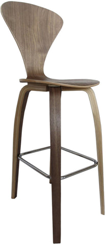 "Fine Mod Imports FMI9253-walnut Wooden Bar Chair 30"", Walnut"