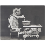 Vintage Kitten In The Kitchen Placemat