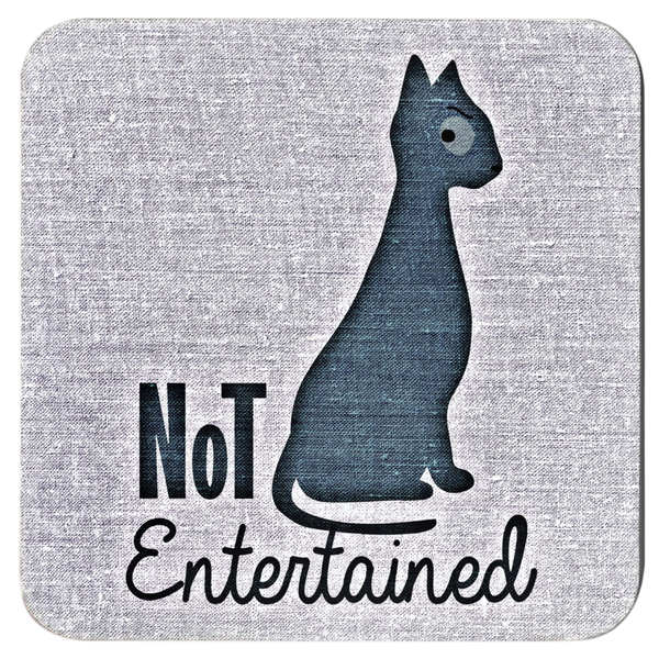 Not Entertained Cat Coaster Set | Meow Cat Imports