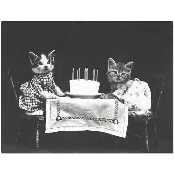 Vintage Kitten Birthday Placemat | Meow Cat Imports