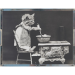 Vintage Kitten In The Kitchen Acrylic Tray