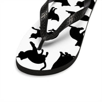 Black and White Cat Flip Flops-Meow Cat Imports