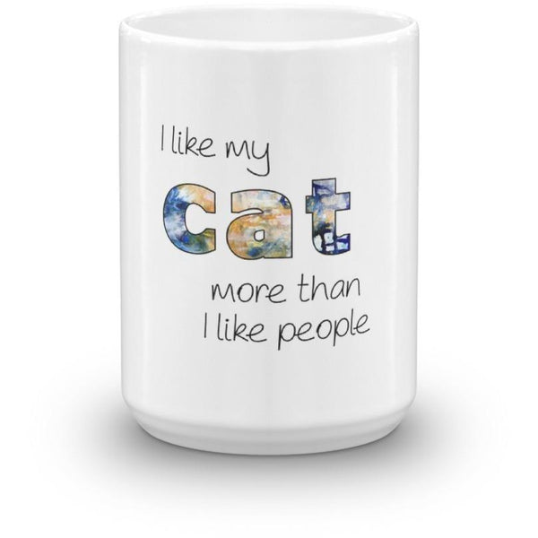 I Like Cats More Than People Mug-Meow Cat Imports