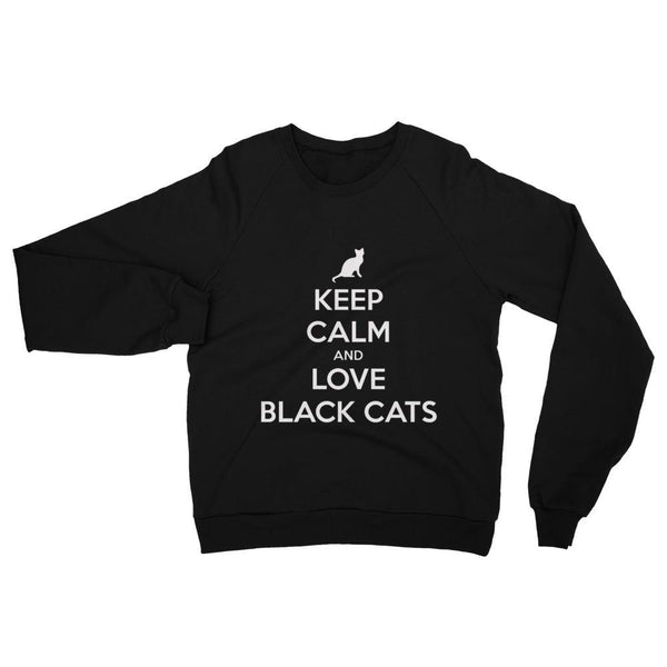 Keep Calm And Love Black Cats Sweatshirt-Meow Cat Imports