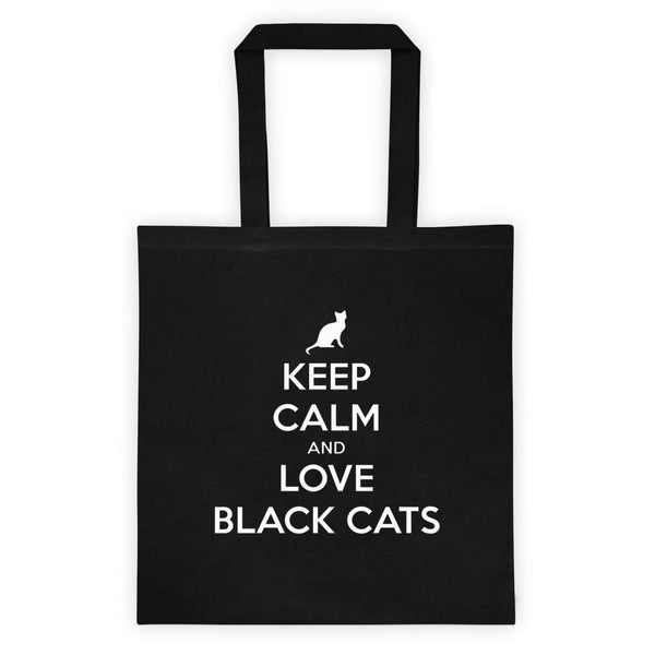 Keep Calm And Love Black Cats Tote Bag-Meow Cat Imports