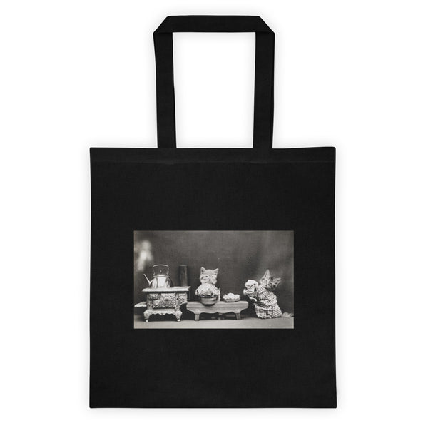 Vintage Kittens Washing Dishes Tote Bag