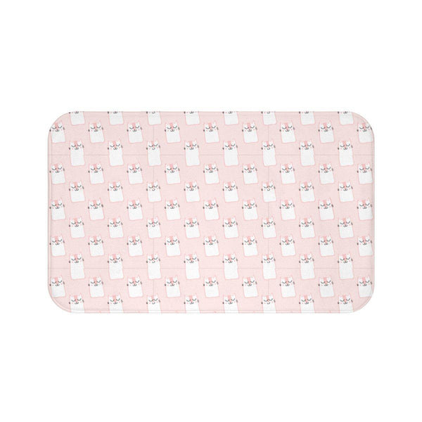 Pink Cute Cat Bath Mat-Meow Cat Imports