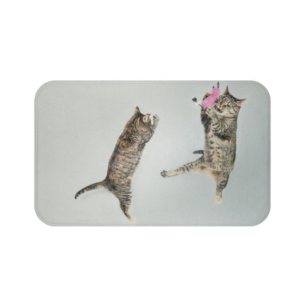 Playful Cats Bath Mat-Meow Cat Imports