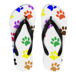 Rainbow Paw Flip Flops-Meow Cat Imports