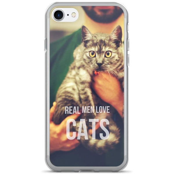 Real Men Love Cats iPhone Case-Meow Cat Imports