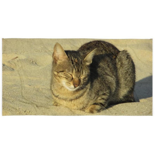 Sleepy Sand Cat Towel-Meow Cat Imports