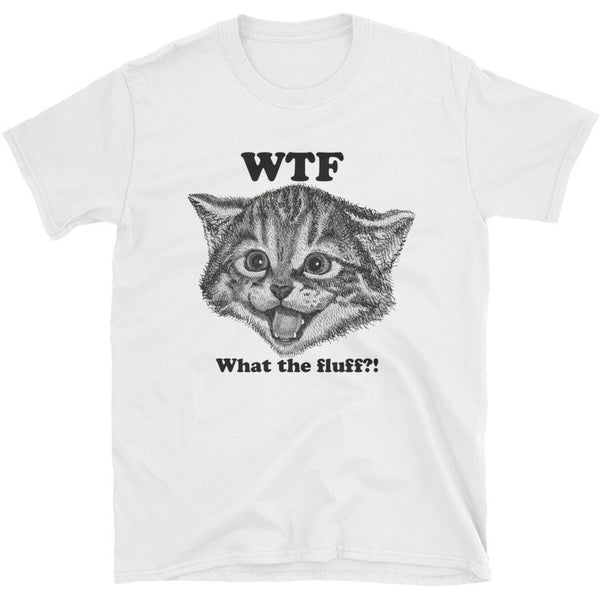 What The Fluff Men's T-shirt-Meow Cat Imports