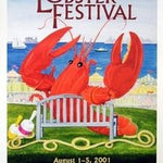 Official 2001 Maine Lobster Festival Poster