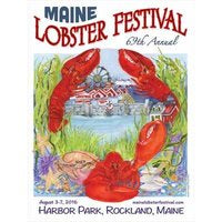 Official 2016 Maine Lobster Festival Poster