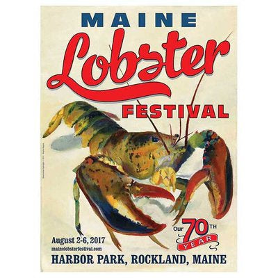Official 2017 Maine Lobster Festival Poster