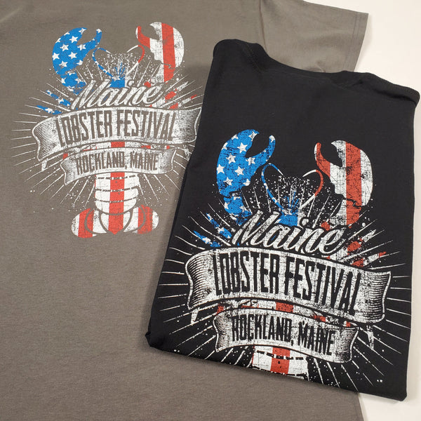 """Red, White, Blue"" Lobster T-Shirt"