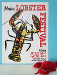 Official 2019 Maine Lobster Festival Poster