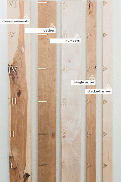 Modern Wooden Growth Chart Ruler Board