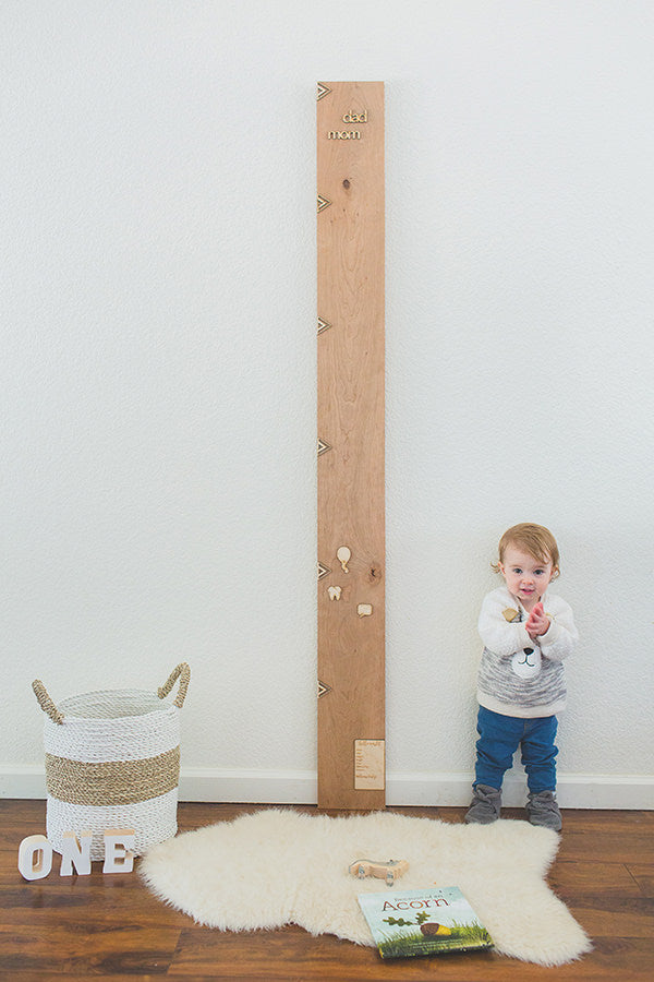 Wooden Growth Chart Ruler Board in Cherry