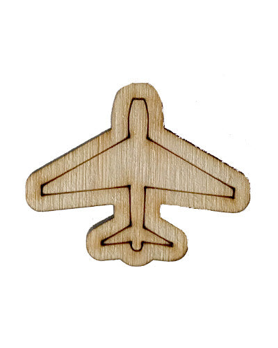 Wooden Growth Chart Ruler Board Milestone Marker - Airplane