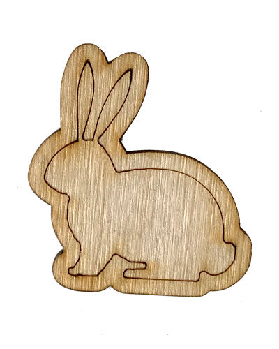 Wooden Growth Chart Ruler Board Milestone Marker - Easter Bunny
