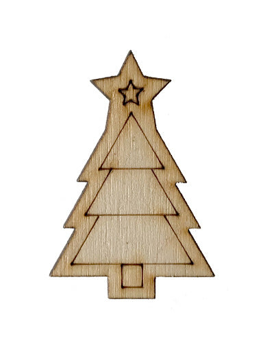 Wooden Growth Chart Ruler Board Milestone Marker - Christmas Tree