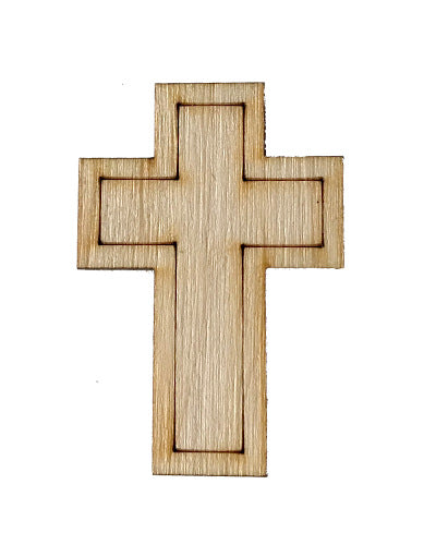 Wooden Growth Chart Ruler Board Milestone Marker - Cross