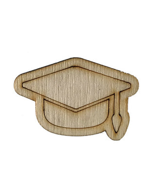 Wooden Growth Chart Ruler Board Milestone Marker - Graduation Cap