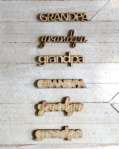 Grandpa Milestone Marker - cut out LC
