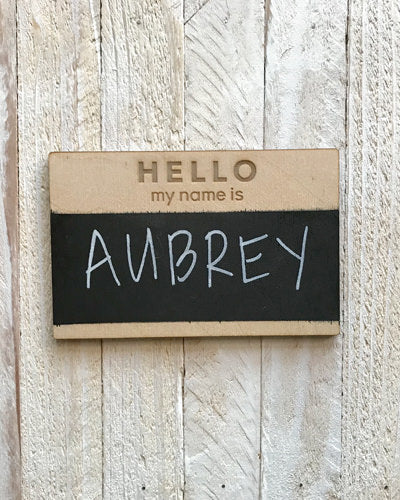 Hello My Name Is - Chalkboard Name Tag
