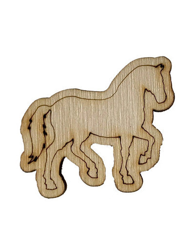 Wooden Growth Chart Ruler Board Milestone Marker - Horse