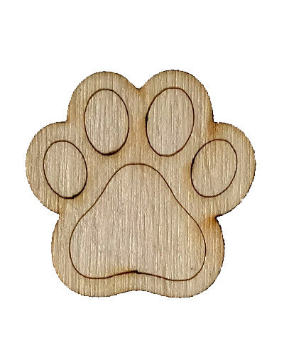 Wooden Growth Chart Ruler Board Milestone Marker - Paw Print