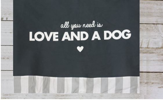 Funda  para cama All You Need Is Love and a Dog Gris