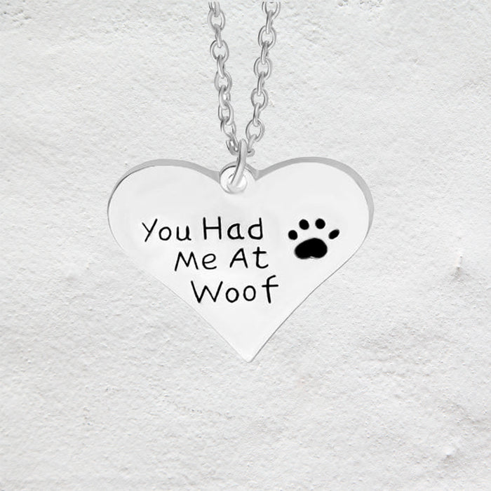 Collar You had me at Woof