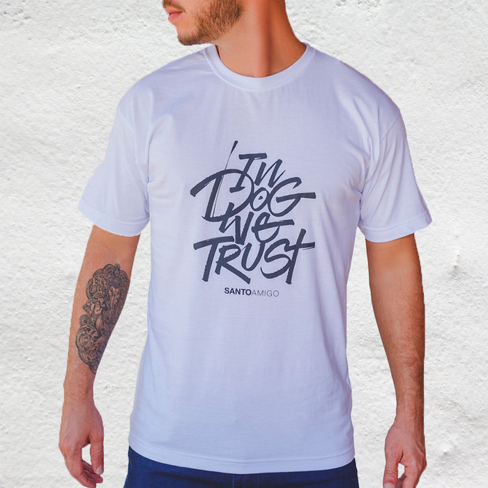 Remera Masculina In Dog We Trust