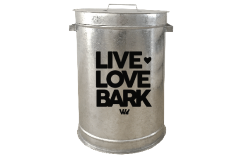 Contenedor Live, Love, Bark